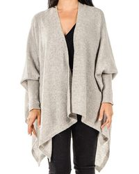 Black.co.uk - Dove Grey Sleeved Cashmere Cape - Lyst