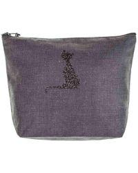 Black.co.uk Vendome 'pussy Cat' Large Make Up Bag - Purple