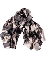 Black.co.uk - Black And Vanilla Madras Check Cashmere Shawl - Lyst