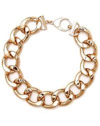 Black.co.uk - Rose Gold Link Necklace - Lyst