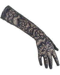 Black.co.uk - Long Black Fine Lace Gloves - Lyst