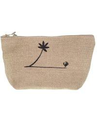 Black.co.uk Biarritz Medium Linen Make Up Bag - Multicolour