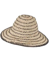 Black.co.uk Black And Brown Straw Sun Hat