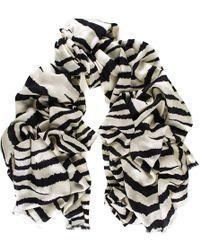 Black.co.uk - Zebra Print Silk And Merino Wool Scarf - Lyst