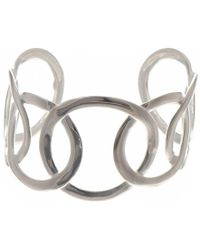 Black.co.uk - Large Link Sterling Silver Cuff - Lyst