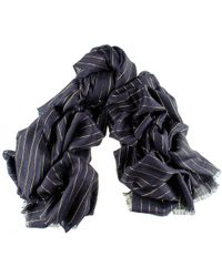 Black.co.uk - Black Cashmere Ring Shawl With Gold Stripe - Lyst