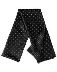 Black.co.uk - Oracle - Black Polka Dot Silk Scarf - Lyst