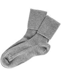 Black.co.uk - Ladies' Grey Cashmere Socks - Lyst