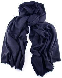 Black.co.uk - Navy Blue Cashmere Shawl - Lyst