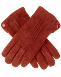 Black.co.uk - Cognac Suede Gloves With Cashmere Lining - Lyst