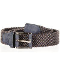 Black.co.uk - Triple Tone Italian Nubuck Leather Woven Belt - Lyst