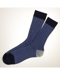 Black Navy, Air Force Blue And Gray Cashmere Socks