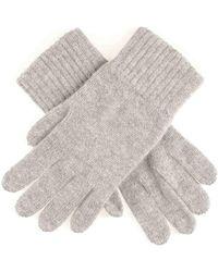 Black Men's Grey Cashmere Gloves