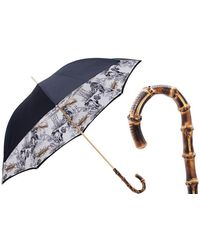 Black.co.uk Black And White Japanese Print Double Canopy Luxury Umbrella - Multicolour