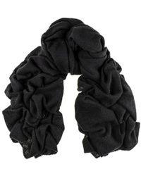 Black.co.uk - Oversized Black Cashmere Knit Scarf - Lyst