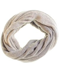 Black.co.uk Two Tone Grey Cashmere Snood - Gray