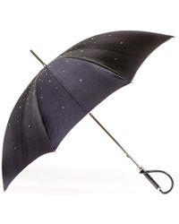 Black.co.uk Swarovski Crystal Luxury Double Canopy Italian Umbrella - Multicolour