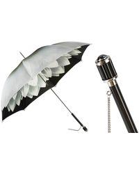 Black.co.uk Silver Dahlia Luxury Double Canopy Umbrella - Metallic