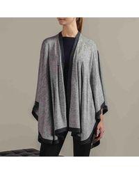 Black.co.uk Two Tone Grey Wool Cape - Gray