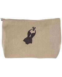 Black.co.uk Biarritz Large Linen Make Up Bag - Multicolour