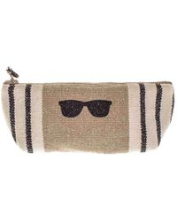 Black.co.uk Deauville Small Linen Make Up Bag - Multicolour