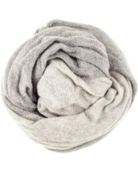 Black.co.uk - Two Tone Grey Double Sided Long Cashmere Snood - Lyst