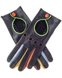 Black.co.uk - Black Leather Driving Gloves With Multicolour Detail - Lyst