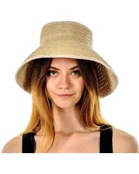 Black.co.uk Cream Bow Straw Sun Hat - Natural