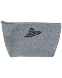 Black.co.uk Vence Medium Linen Make Up Bag - Grey