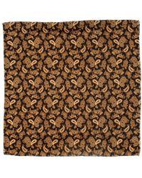 Black.co.uk - Patria Paisley Cotton Italian Pocket Square - Lyst
