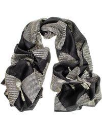 Black.co.uk Nera - Black And White Silk Scarf