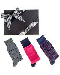 Black.co.uk | Patterned Egyptian Cotton Lisle Socks Gift Set | Lyst