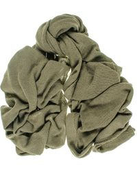 Black.co.uk - Oversized Military Green Knitted Cashmere Scarf - Lyst