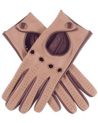 Black.co.uk Ladies Chocolate Brown And Caramel Leather Driving Gloves - Multicolour