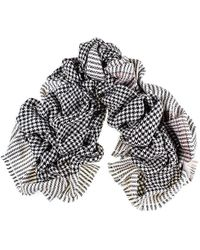 Black.co.uk - Black And Ivory Houndstooth Cashmere Ring Shawl - Lyst