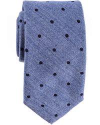 Black.co.uk - Cetona Blue Polka Dot Silk And Wool Tie - Lyst