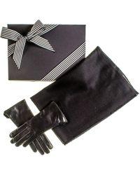 Black.co.uk - Black Cashmere Scarf And Rabbit Fur Gloves Gift Set - Lyst