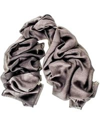 Black.co.uk Grey And Charcoal Cashmere And Silk Wrap - Gray