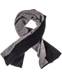 Black.co.uk Black And Grey Double Faced Cashmere Neck Warmer - Gray