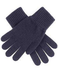 Black Men's Navy Cashmere Gloves - Blue