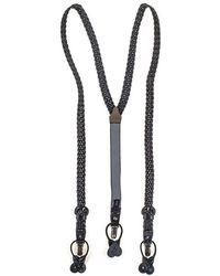 Black.co.uk - Black Woven Leather Braces - Lyst