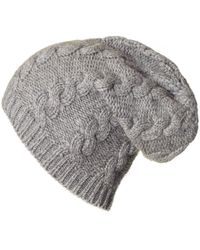 dee3d590 Lyst - Gucci Men's Oversized Cable Knit Beanie In Grey in Gray for Men