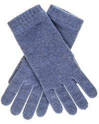 Black.co.uk - Ladies Denim Blue Cashmere Gloves - Lyst