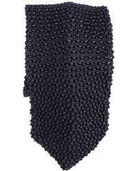 Black.co.uk - Savoca Black Knitted Silk Tie - Lyst