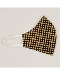 Black And Biscuit Check Organic Cotton Face Mask - Multicolour