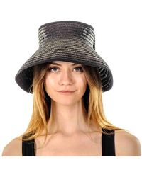 Black Bow Straw Sun Hat - Black