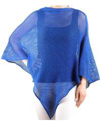 Black.co.uk - Cobalt Blue Soft Cotton Poncho - Lyst