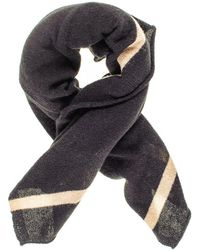 Black.co.uk - Black And Sand Cashmere Square Scarf - Lyst