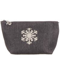Black.co.uk Anthracite Tweed 'snowflake' Make Up Bag - Multicolor