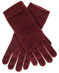 Black.co.uk - Ladies Bordeaux Cashmere Gloves - Lyst